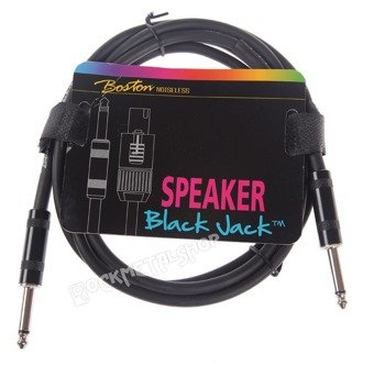przewód instrumentalny BOSTON - BLACK JACK 2m jack prosty/prosty