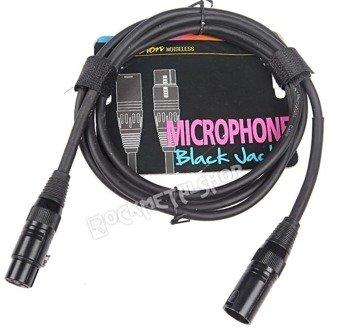 """przewód mikrofonowy BOSTON """"BLACK JACK"""" XLR męski -  XLR żeński / 2m"""
