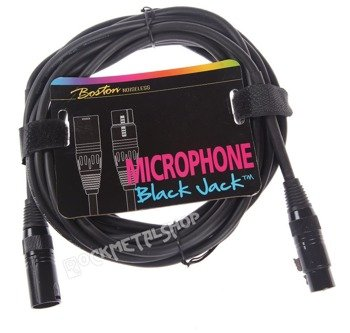 przewód mikrofonowy BOSTON: XLR męski -  XLR żeński / 5m