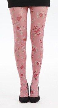rajstopy Ditsy Petite Flower kolor różowy