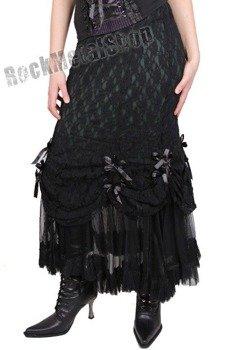 spódnica długa VANITY BLACK (GREEN/BLACK)