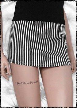 spódniczka SKELETON HANDS BLACK & WHITE