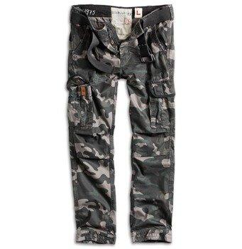 spodnie bojówki PREMIUM TROUSERS SLIMMY BLACK CAMO