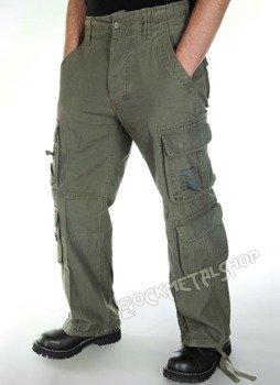 spodnie bojówki PURE VINTAGE olive