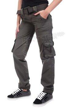 spodnie bojówki damskie LADIES PREMIUM TROUSERS SLIMMY OLIVE