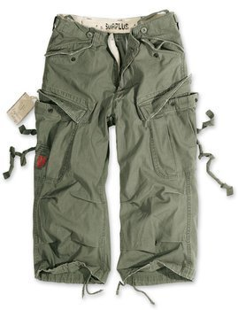spodnie bojówki krótkie 3/4 - Engineer Vintage oliv gewaschen