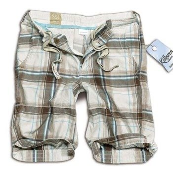 spodnie bojówki krótkie KILBURN SHORTS - BRAUN