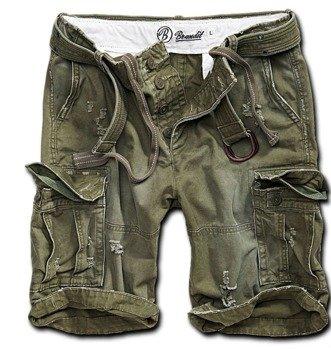 spodnie bojówki krótkie SHELL VALLEY HEAVY VINTAGE - OLIV