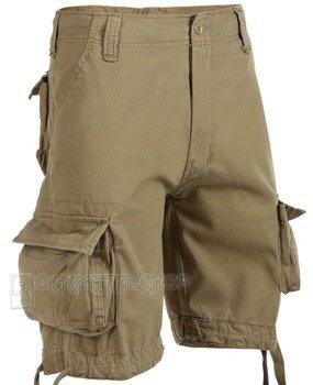 spodnie bojówki krótkie URBAN LEGEND SHORTS - BEIGE