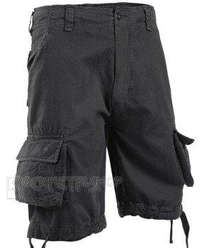 spodnie bojówki krótkie URBAN LEGEND SHORTS - BLACK