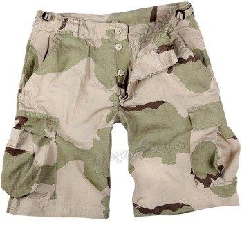spodnie bojówki krótkie US BERMUDA RIP-STOP COTTON PREWASH DESERT