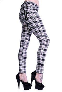 spodnie damskie BANNED - WHITE CHECK