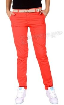 spodnie damskie XYLONTUM CHINO TROUSERS WN RED