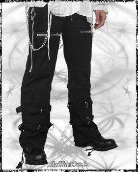 spodnie męskie czarne - CHAINS & ZIPPERS CRAZY