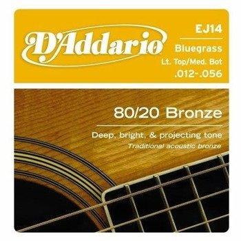 struny do gitary akustycznej D'ADDARIO - 80/20 Bluegrass EJ14 /012-056/