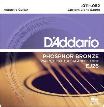 struny do gitary akustycznej D'ADDARIO EJ26 /011-052/