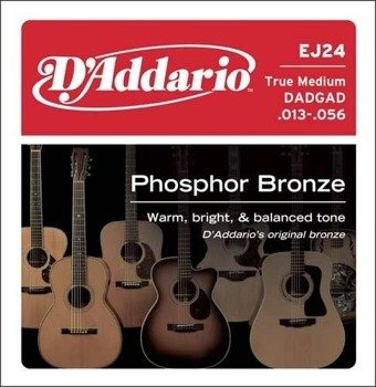 struny do gitary akustycznej D'ADDARIO - PHOSPHOR BRONZE / TRUE MEDIUM EJ24 /013-056/