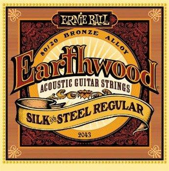 struny do gitary akustycznej ERNIE BALL Earthwood 80/20 SILK AND STEEL Regular EB2043 /013-056/