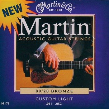 struny do gitary akustycznej MARTIN M175 - 80/20 BRONZE Custom Light /011-052/
