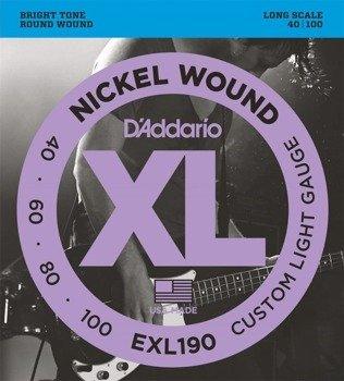 struny do gitary basowej D'ADDARIO EXL190 /040-100/
