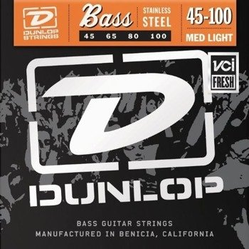 struny do gitary basowej JIM DUNLOP  - STAINLESS STEEL /045-100/ (DBS45100)