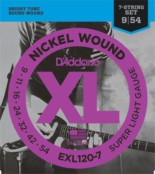 struny do gitary elektrycznej 7str. D'ADDARIO EXL120-7 /009-054/
