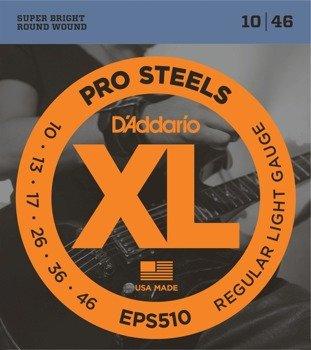 struny do gitary elektrycznej D'ADDARIO XL ProSteels EPS510 /010-046/