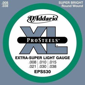 struny do gitary elektrycznej D'ADDARIO XL ProSteels EPS530 /008-038/