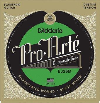 struny do gitary klasycznej D'ADDARIO - PRO ARTE BLACK FLAMENCO EJ25B