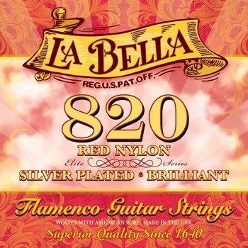 struny do gitary klasycznej LA BELLA Flamenco 820 Silver Plated / Red Nylon