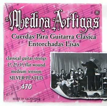 struny do gitary klasycznej MEDINA ARTIGAS Flat Wound 470 Medium