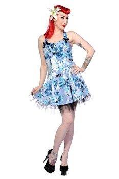 sukienka BANNED - BLUE COLD FLORAL
