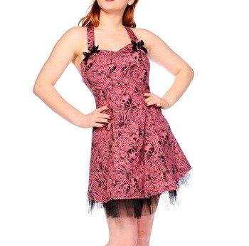 sukienka BANNED - SKULLS AND ROSES