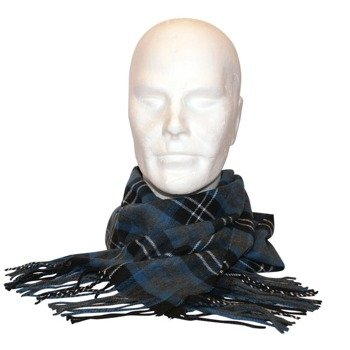 szalik FREE AUTHORITY - BLUE/GREY PLAID WOVEN SCARF