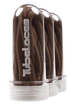 sznurowadła TUBELACES - BROWN (130 cm)