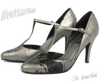 szpilki IRON FIST (Yosemite T-Bar Heel)(Metallic Pewter)  '09