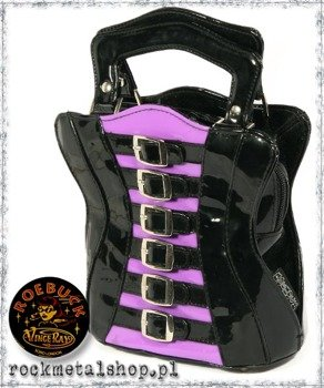 torebka GORSET - PURPLE & BUCKLE