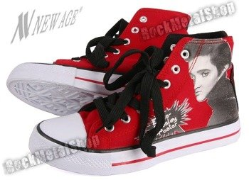 trampki NEW AGE - ELVIS: RED/BLACK