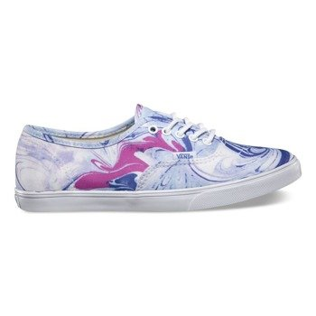 trampki damskie VANS  - AUTHENTIC LO PRO MARBIE BLUE TRUE WHITE