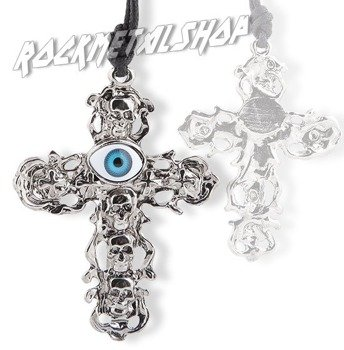 wisior EYE - SKULL CROSS