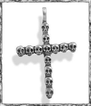 wisior SKULL CROSS