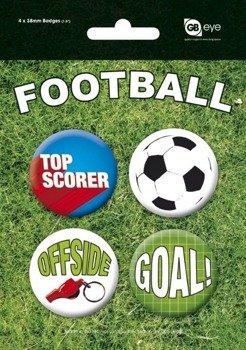 zestaw 4 przypinek FOOTBALL