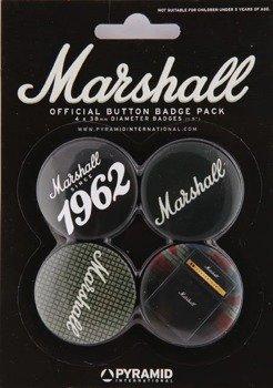 zestaw 4 przypinek MARSHALL - 1962