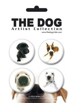 zestaw 4 przypinek THE DOG