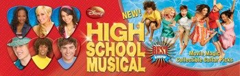 zestaw kostek 3D: HIGH SCHOOL MUSICAL (6 szt)