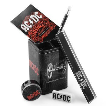 zestaw przyborów szkolnych AC/DC - BLACK ICE