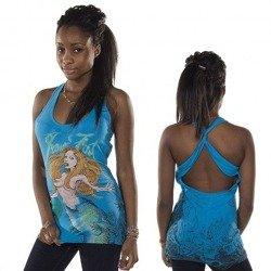 bluzka damska na ramiączka IRON FIST - BURIAL TWIST   (ELECTRIC BLUE)