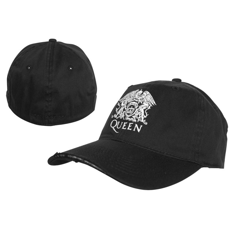 Ładowanie zdjęcia czapka QUEEN - CREST WASHED BLACK FLEX CAP