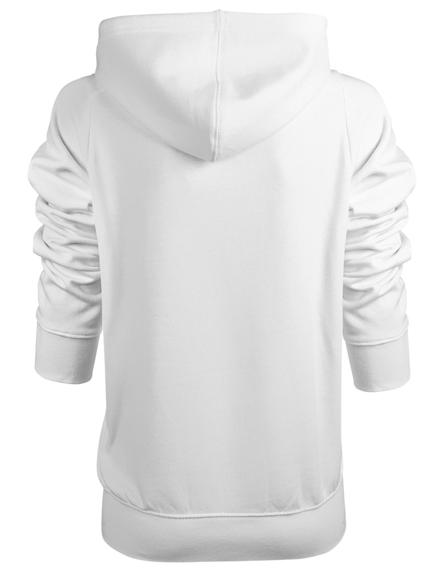 Bluza damska na zamek -DC (STAR ZIP) (WHITE)