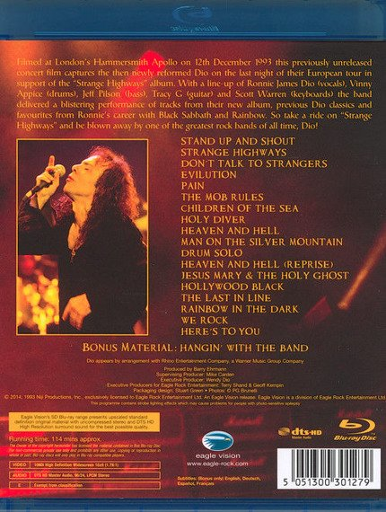 DIO: LIVE IN LONDON - HAMMERSMITH APOLLO 1993 (BLU-RAY)